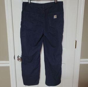 Womens Carhartt FR Fire Resistant Blue Pants 10x28